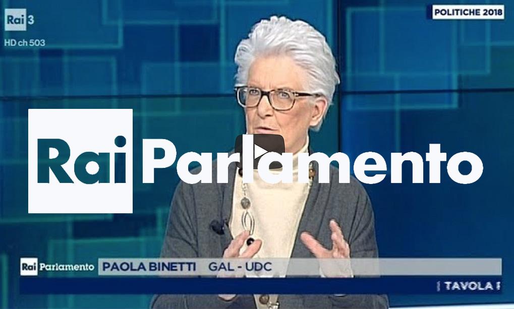 Paola binetti ospite della tavola rotonda di rai for Parlamento rai